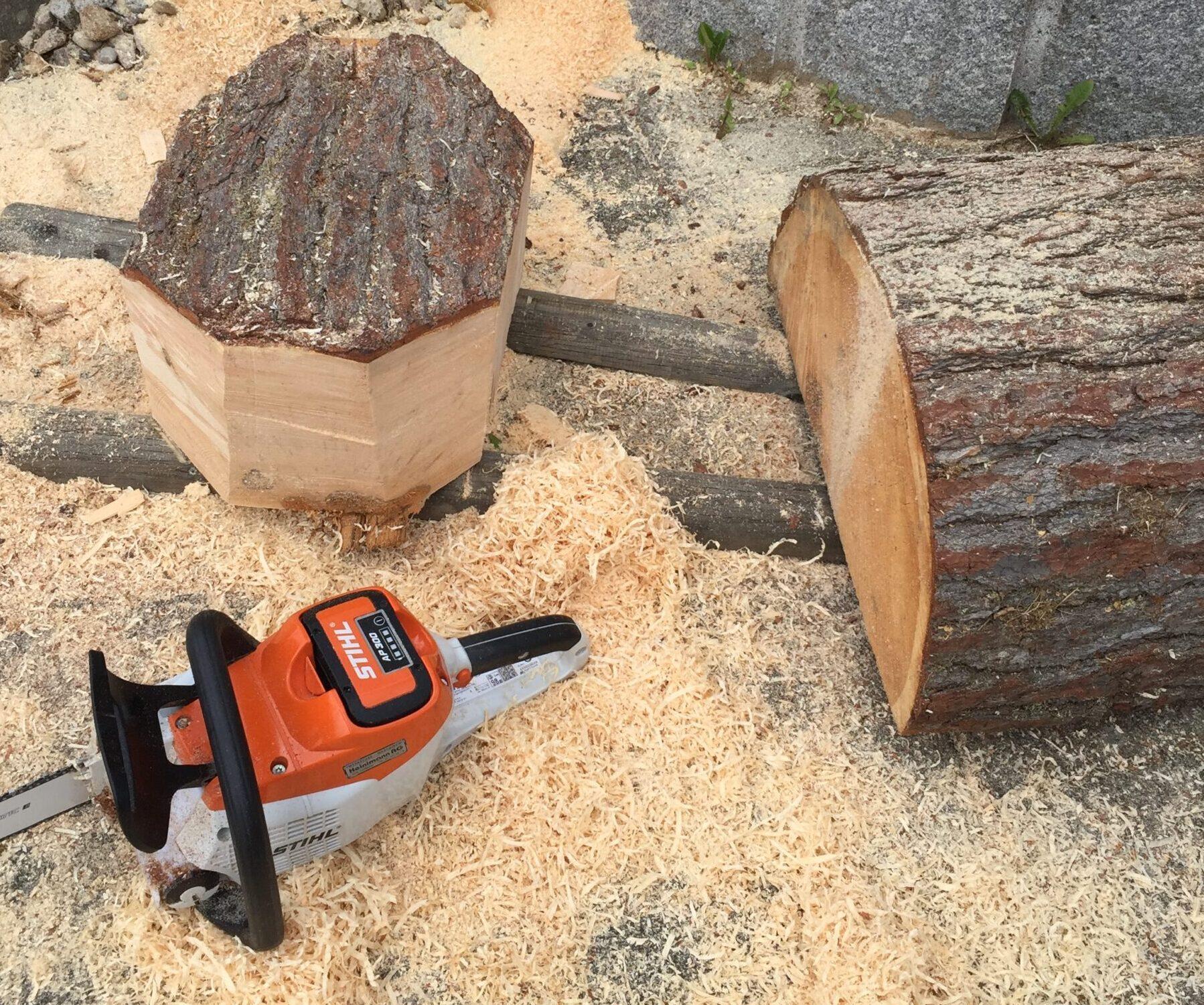 Vom Baumstamm zum Rohling